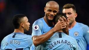 Manchester City Vincent Kompany Bernardo Silva