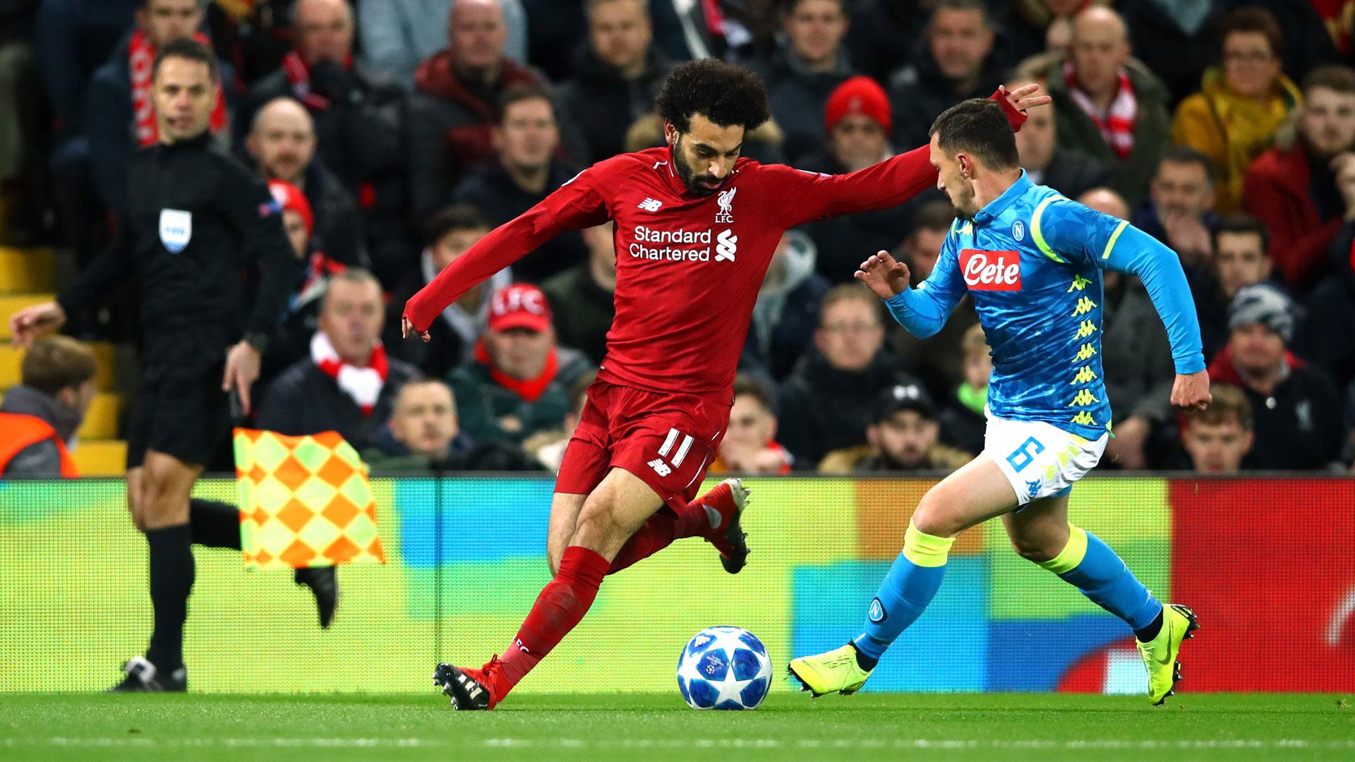 Mohamed Salah Liverpool Napoli Champions League 11122018