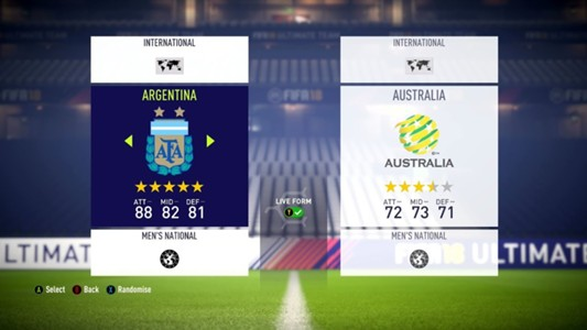 FIFA 18 International Teams