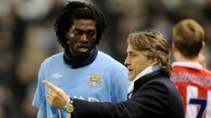 Adebayor, Mancini - Manchester City