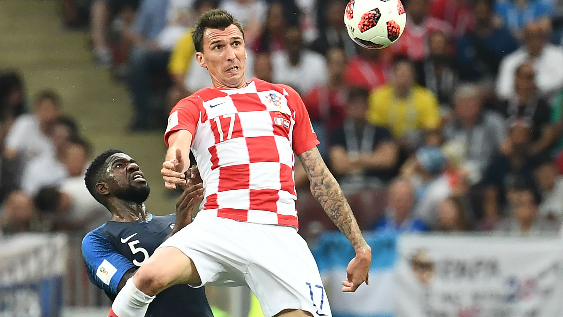 Mario Mandzukic Samuel Umtiti France Croatia World Cup final 2018