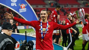 Zlatan Ibrahimovic Manchester United League Cup
