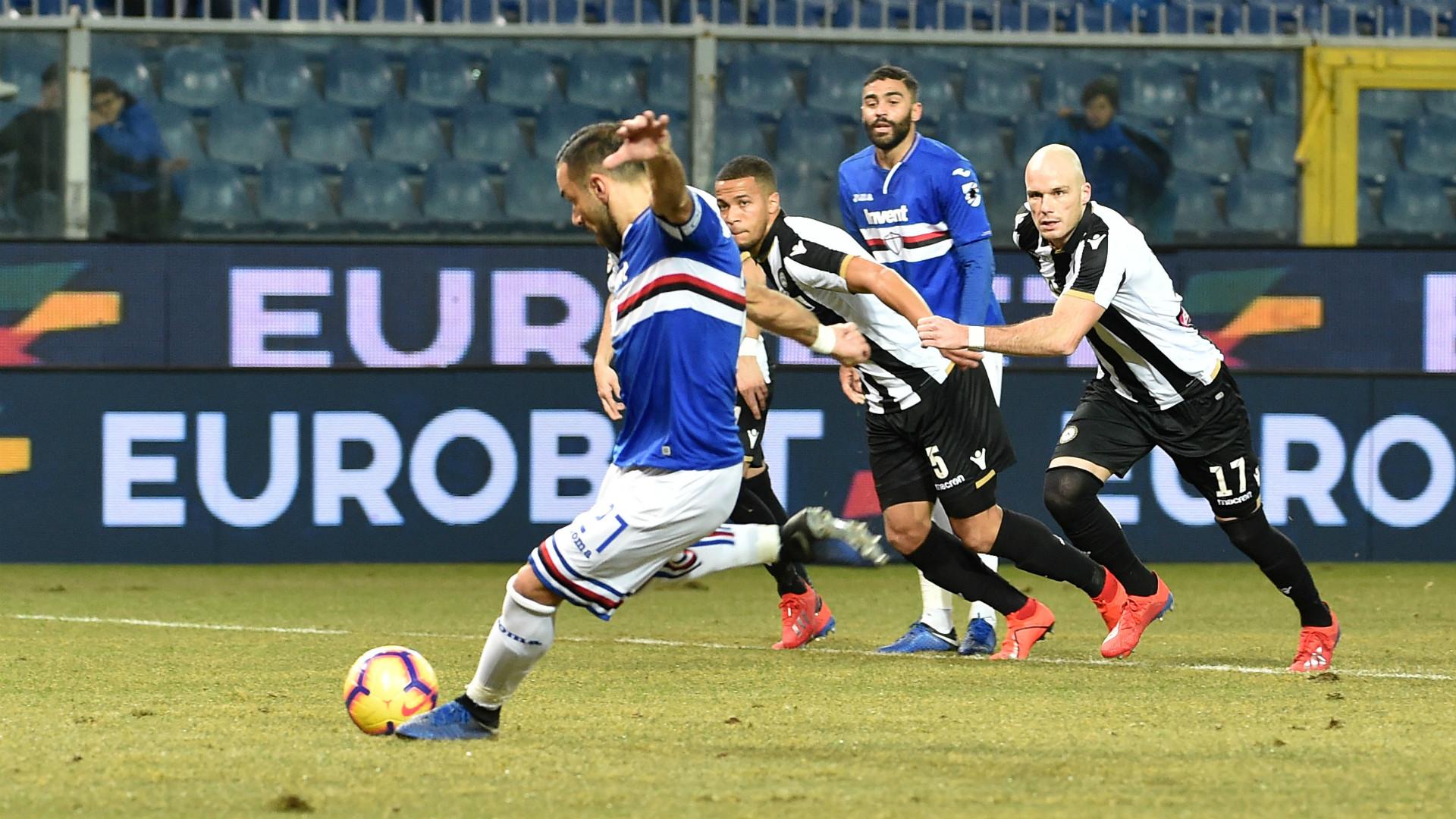 Quagliarella Sampdoria Udinese