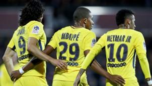 Kylian Mbappe Edinson Cavani Neymar Metz PSG Ligue 1 08092017