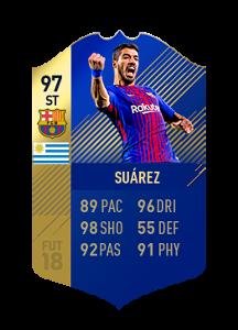 FIFA 18 La Liga Team of the Season Luis Suarez