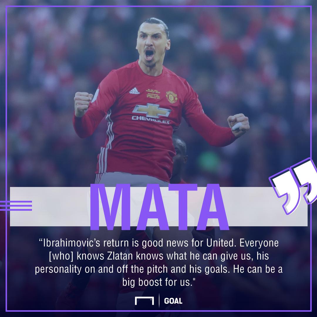 Juan Mata Zlatan Ibrahimovic Manchester United