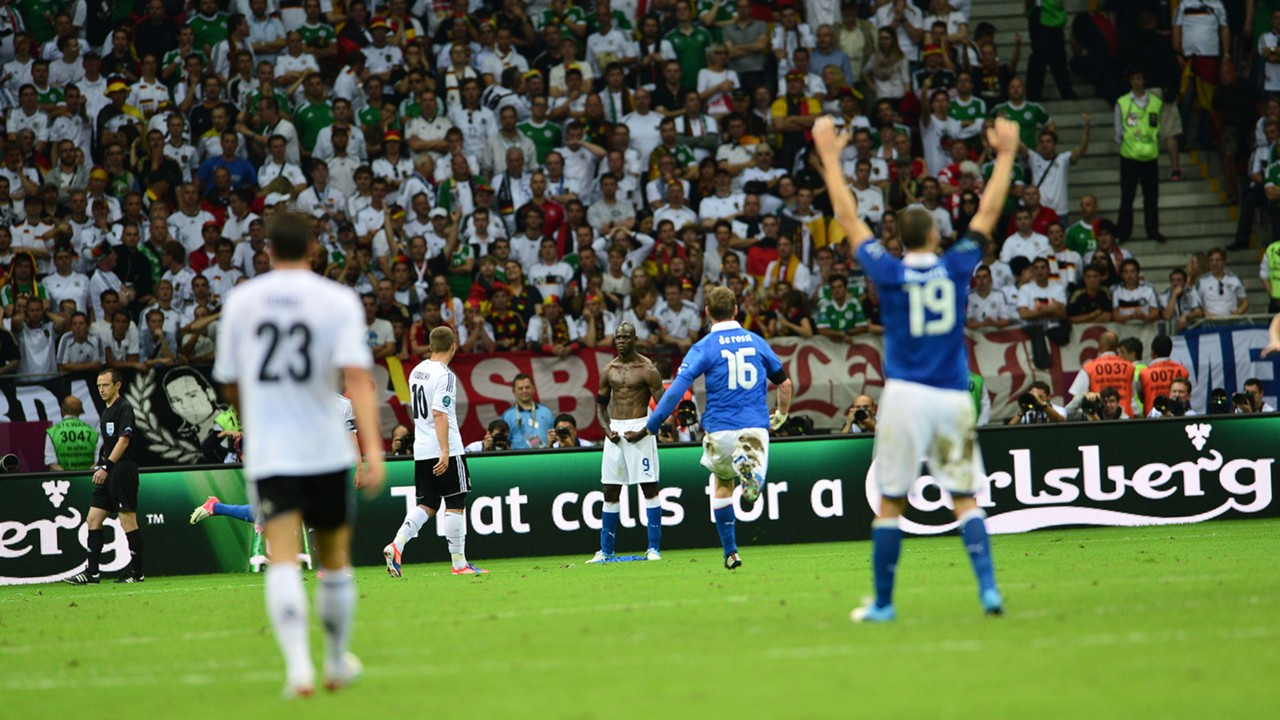 Mario Balotelli Italy Germany Euro 2012