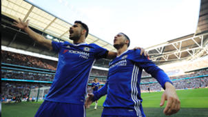 Eden Hazard and Diego Costa