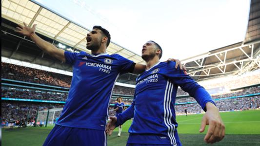 Eden Hazard and Diego Costa