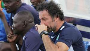 Gor Mahia bench Hassan Oktay and Zedekiah Otieno.