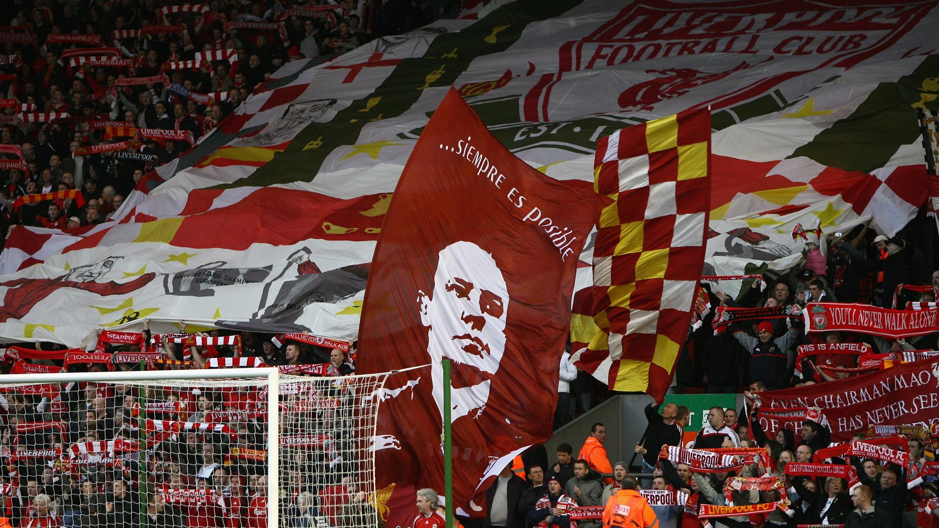 Rafa Benitez banner at Anfield