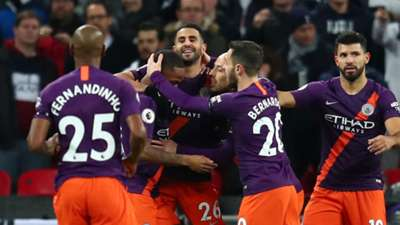 Man City celebrate vs Tottenham