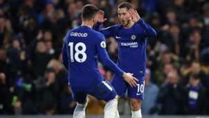 Olivier Giroud Eden Hazard FC Chelsea Premier League 0218