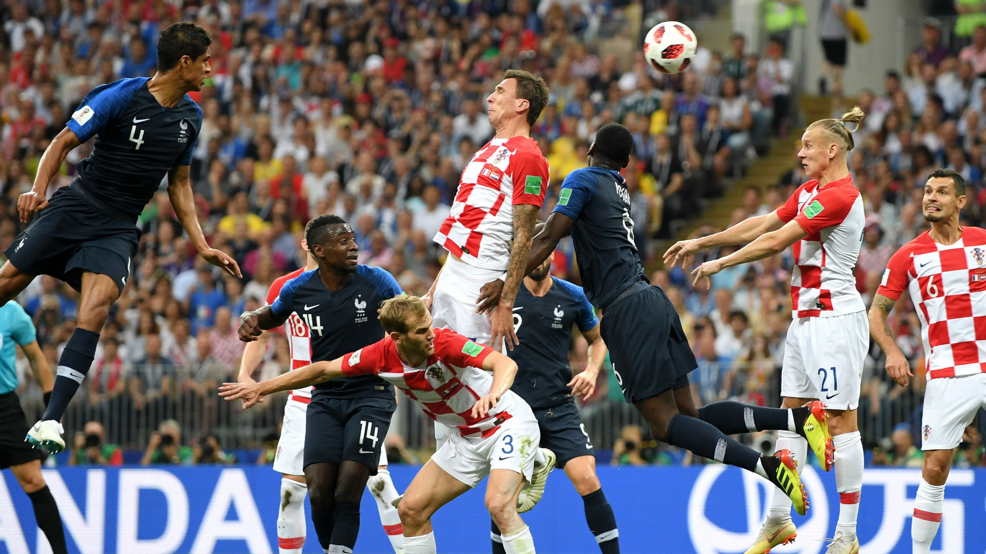 Mario Mandzukic Croatia France World Cup final