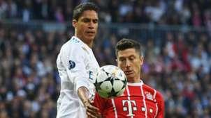Raphael Varane, Real Madrid, Robert Lewandowski, Bayern Munich