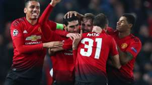 Man Utd celebrate vs Young Boys