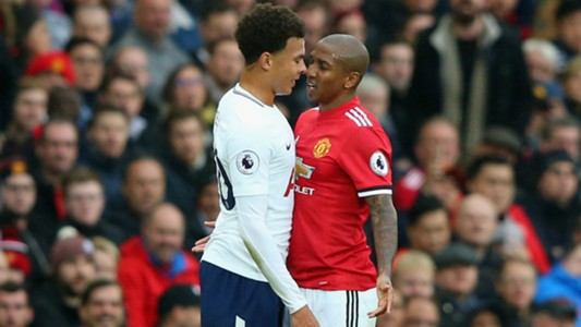 Ashley Young Dele Alli Manchester United Tottenham Hotspur