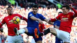 Chris Smalling Victor Lindelof Manchester United Alvaro Morata Chelsea