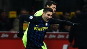 Roberto Gagliardini Mattia Destro Inter Bologna Coppa Italia