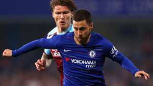 Eden Hazard, Jeff Hendrick, Chelsea vs Burnley