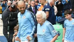 Manchester City David Silva and old fan