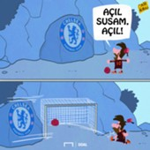 (TR ONLY) Messi Chelsea cartoon