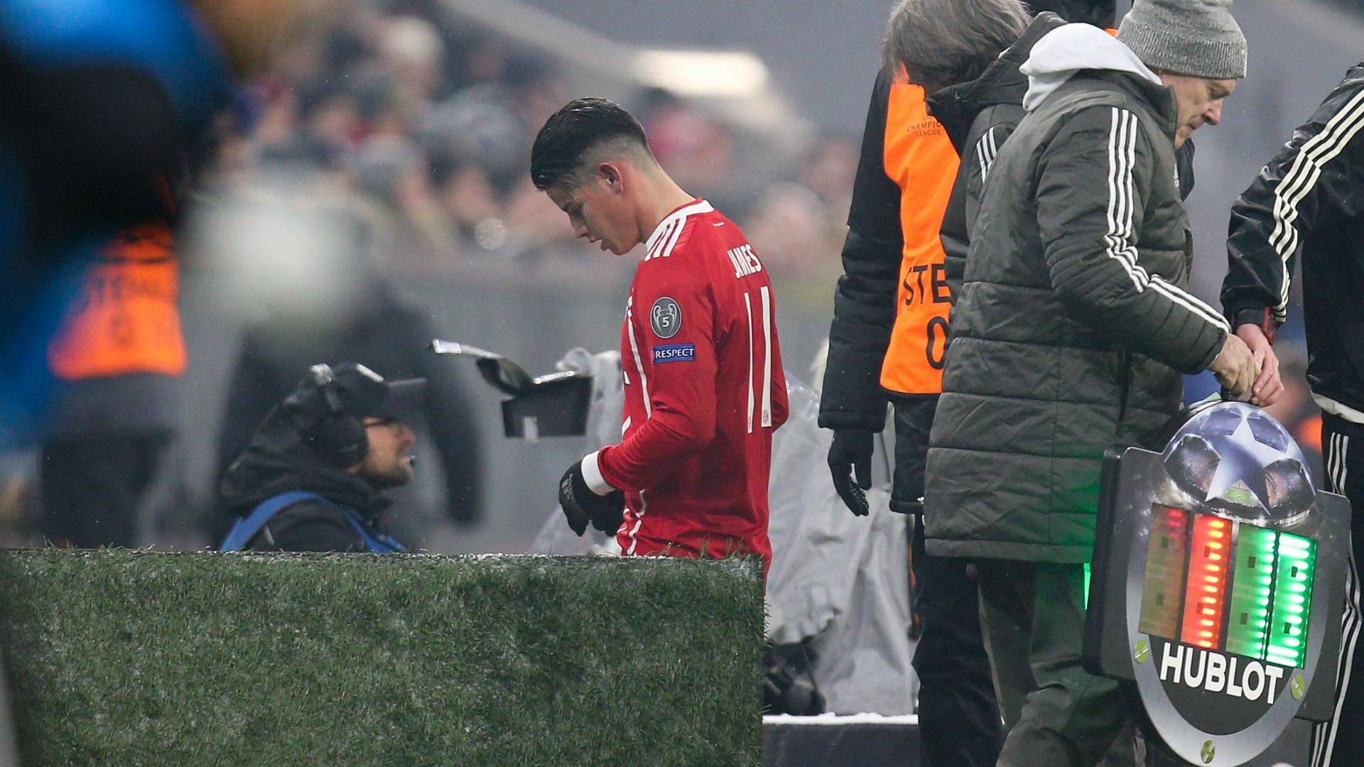 Wadenverhärtung bei Bayern-Profi James