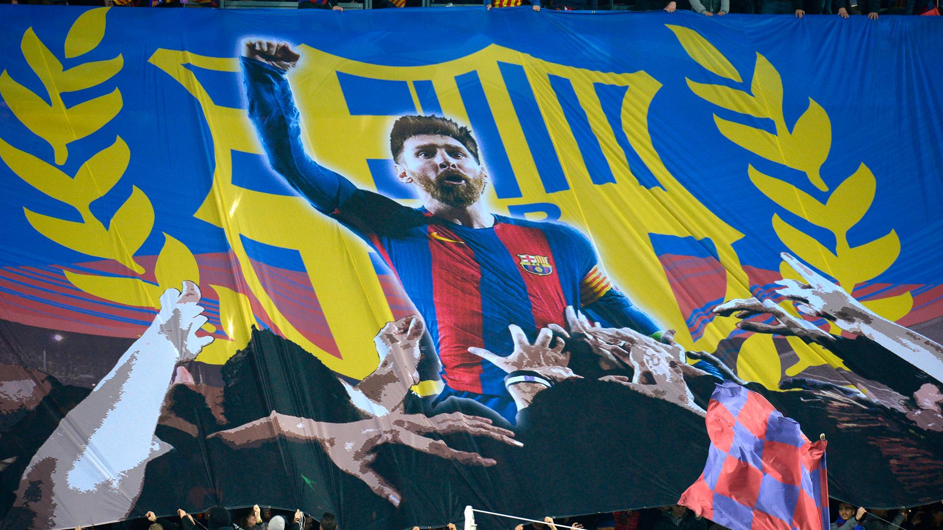 Lionel Messi Barcelona Chelsea banner
