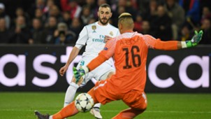 Benzema Areola PSG Real Madrid Champions League