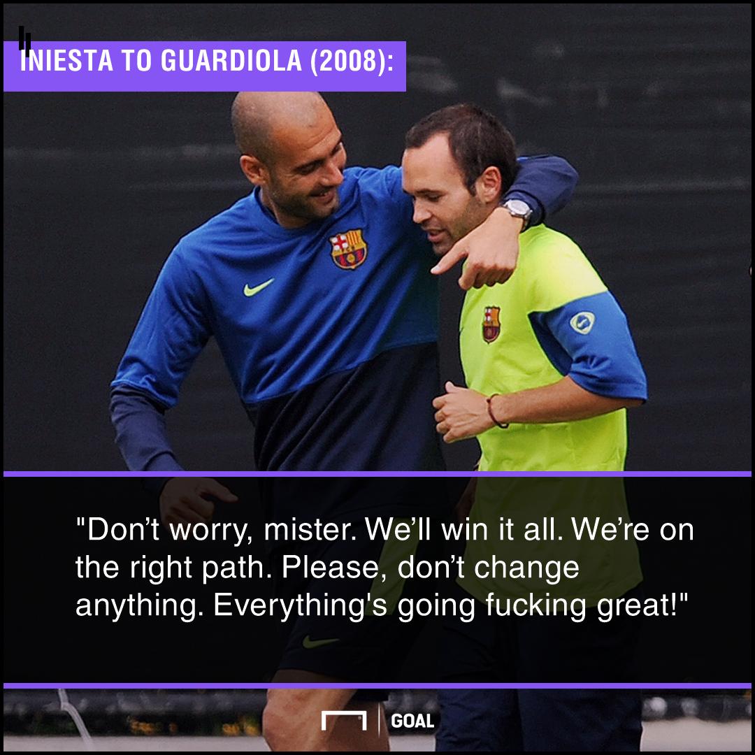 Andres Iniesta Pep Guardiola Barcelona PS