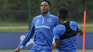Yerry Mina entrenamiento Everton 2019
