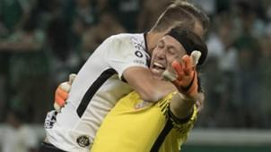 Cássio e Henrique - Palmeiras x Corinthians - 8/04/2018