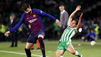 Gerard Piqué Diego Lainez FC Barcelona Real Betis