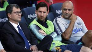 Lionel Messi Barcelona bench Athletic Club 290918