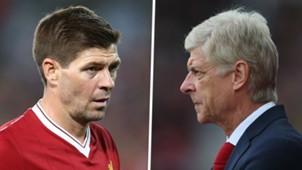 Steven Gerrard Arsene Wenger GFX