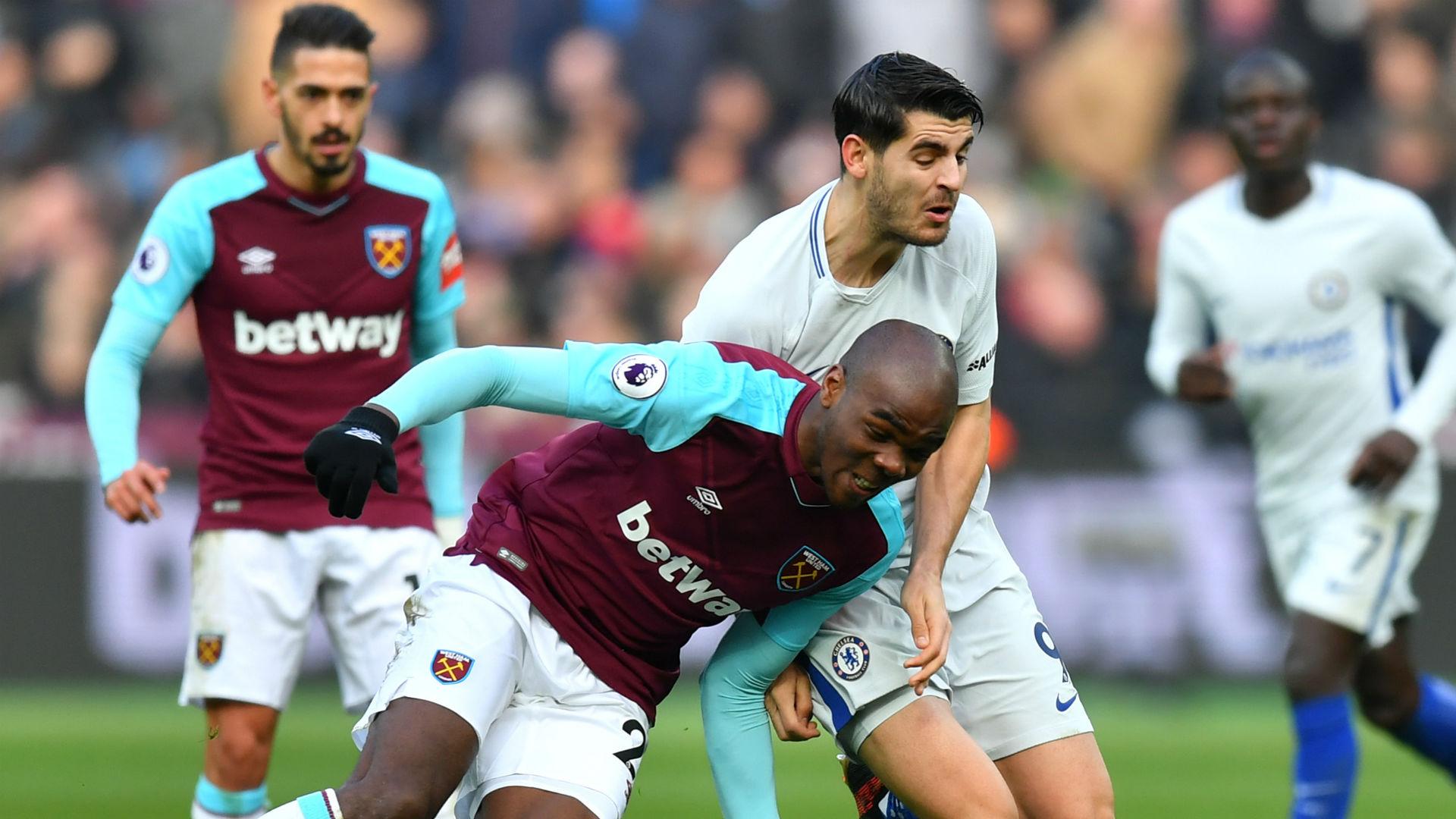 Angelo Ogbonna Alvaro Morata West Ham Chelsea Premier League