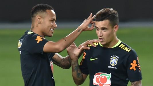 Philippe Coutinho Neymar Brazil