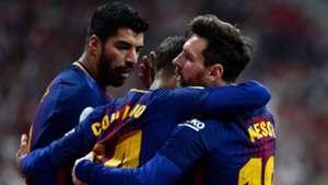 Coutinho Messi Suarez Sevilla Barcelona 21042018 Copa del Rey final