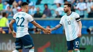 Lautaro Martinez Lionel Messi Argentina 2019