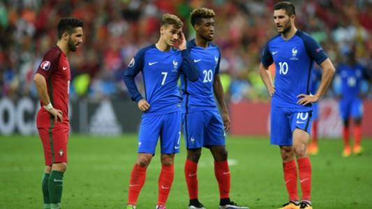 Andre-Pierre Gignac Antoine Griezmann Portugal France UEFA Euro 10072016