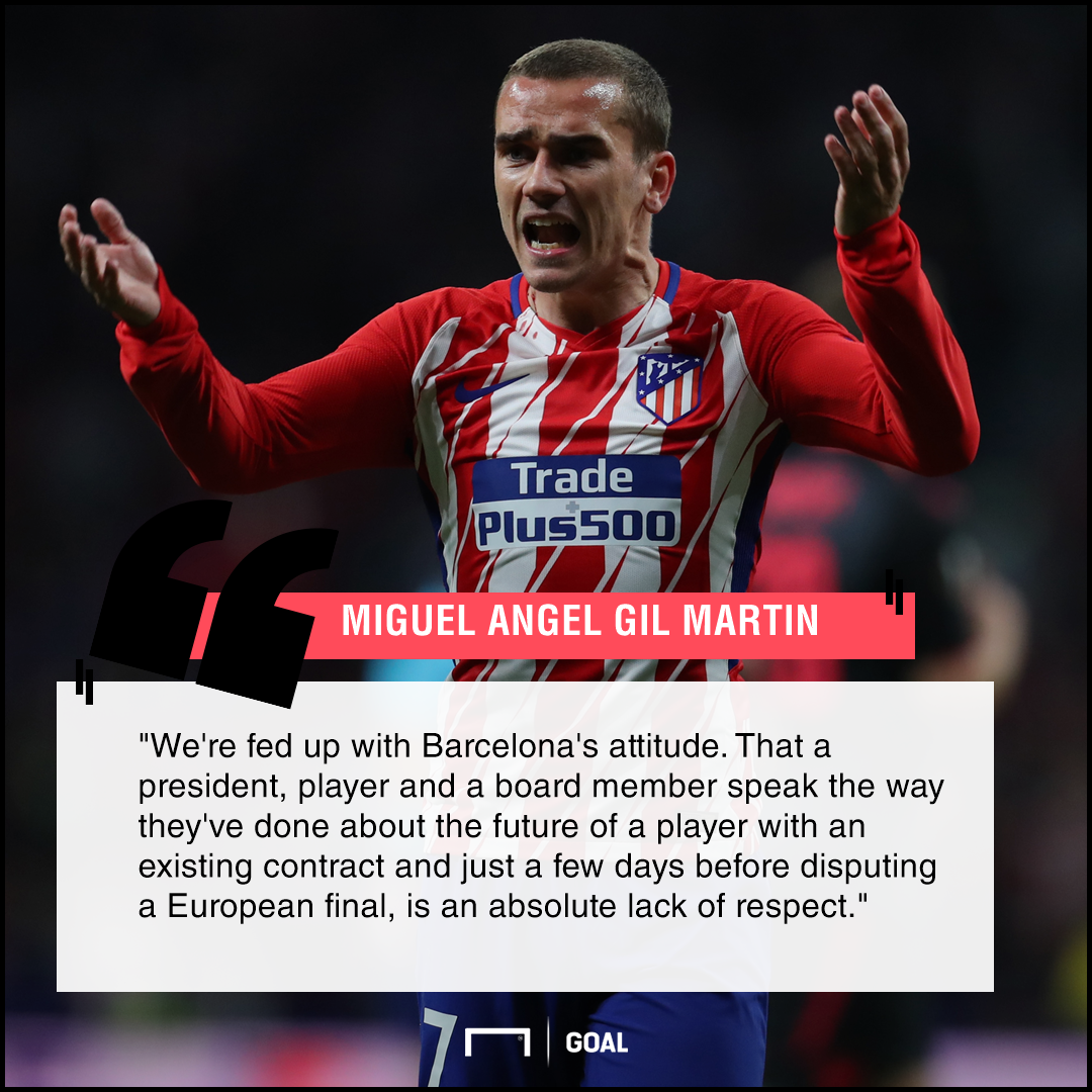 Atletico Madrid fed up with Barcelona Antoine Griezmann