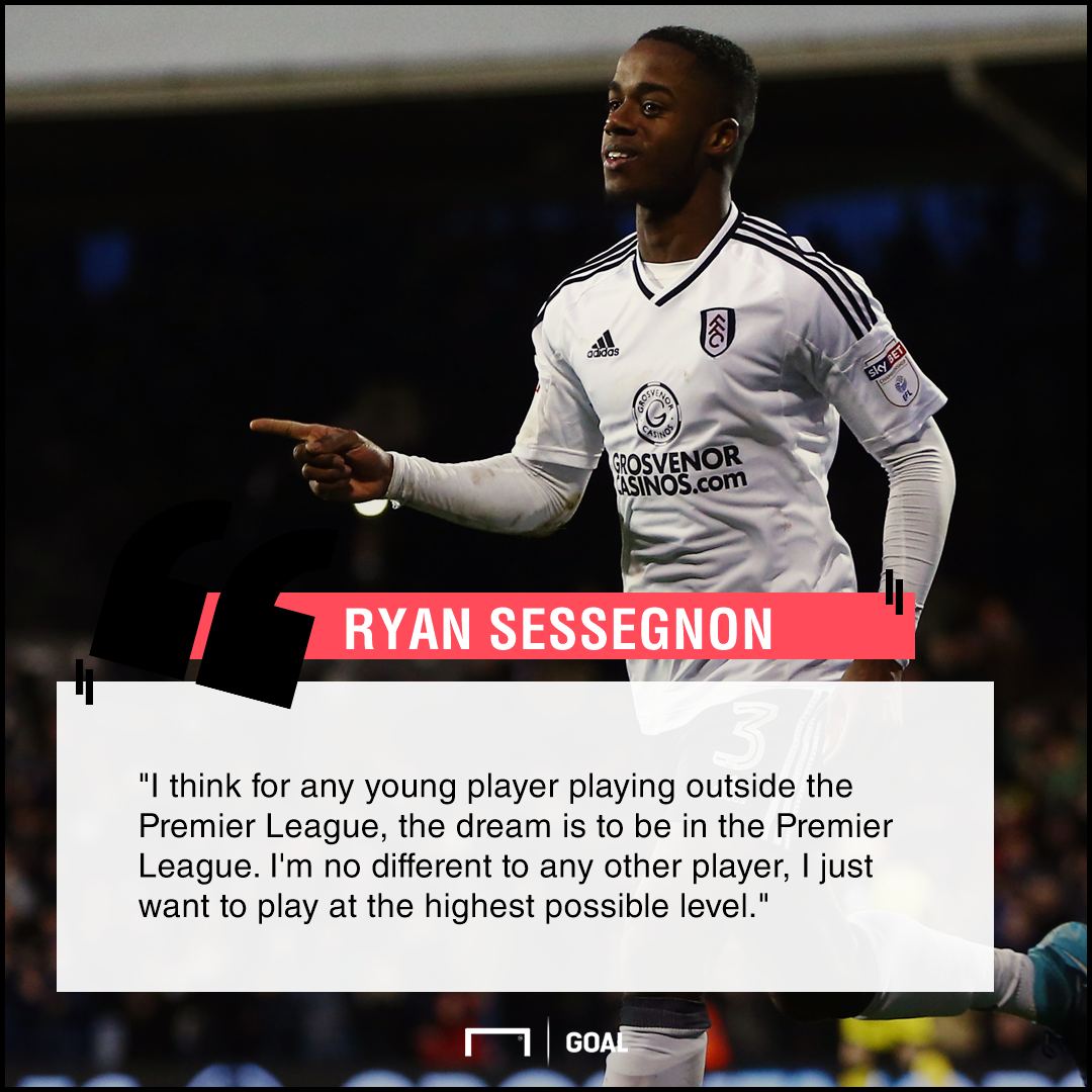 Ryan Sessegnon Premier League ambition