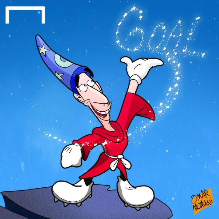 Cartoon - Mkhitaryan the magician