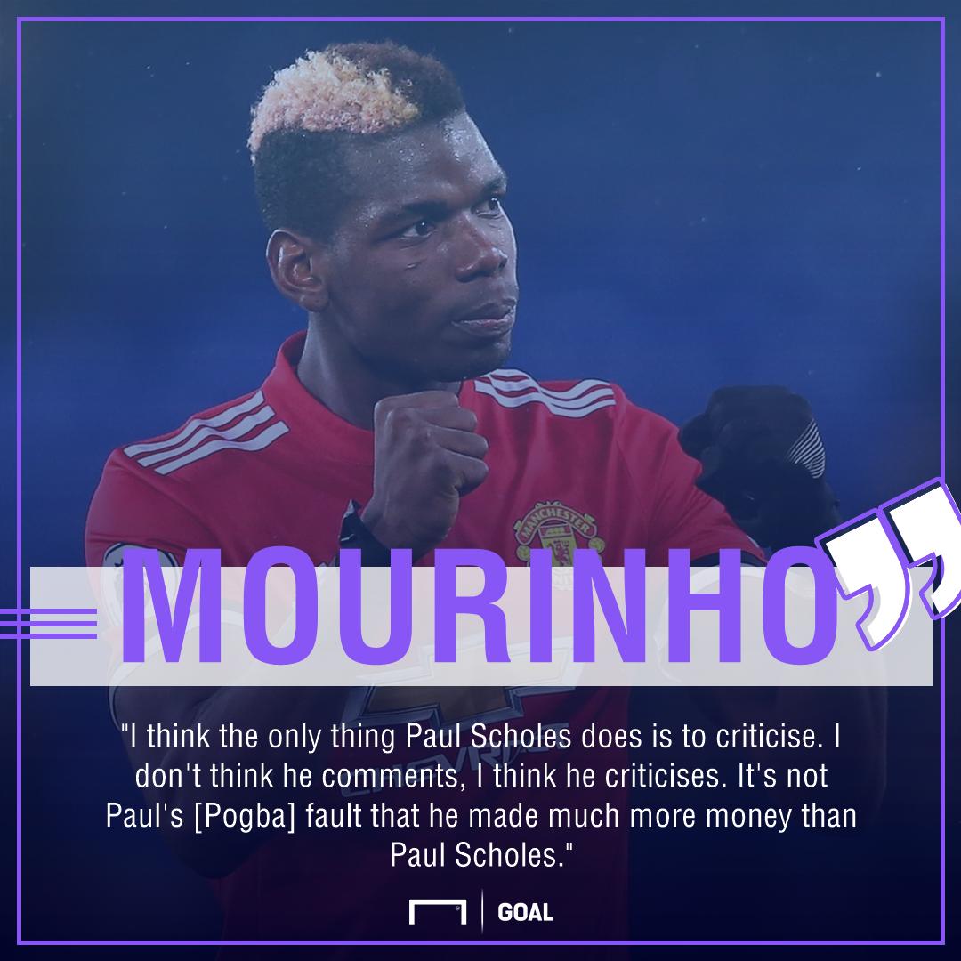Jose Mourinho Paul Scholes Paul Pogba criticism