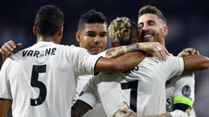 Varane Sergio Ramos Mariano Real Madrid Roma Champions League 19 09 2018