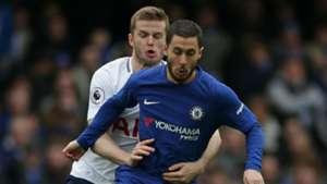 Eric Dier Tottenham Eden Hazard Chelsea 01042018
