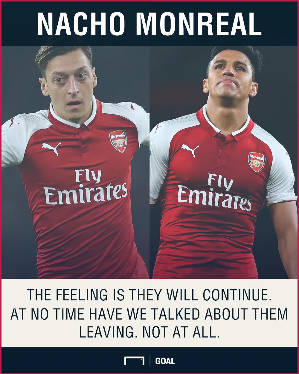 Alexis Sanchez Mesut Ozil Arsenal future Nacho Monreal