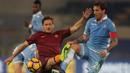Francesco Totti Lucas Biglia Lazio Roma Coppa Italia 01032017