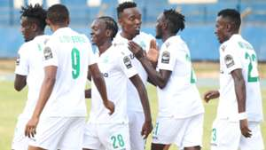 Gor Mahia players celebrate against Zoo Kericho.
