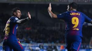 Paulinho Luis Suarez Real Sociedad Barcelona LaLiga 14012018